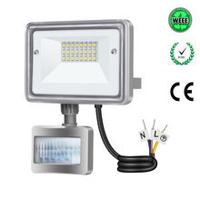 NEW TYPE LED Flood Light 10W PIR Motion Sensor project lamp Outdoor Wall Lamp Waterproof65 Security Light searching light(China)
