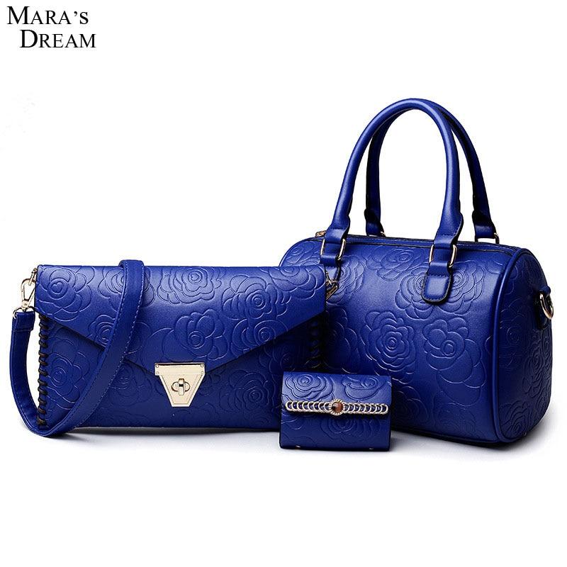 Maras Dream 2018 new Fashion Casual female bag Value the crocodile grain three-piece lash package Women Shoulder Bag Series<br>