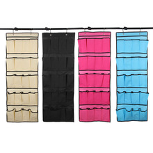 20 Pockets Hanging Storage Bag Shoe Organizer  Door Holder Home Shoes Organizing Bag with Hooks Space Saver Organizer E5M1