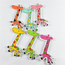 (20pieces)Christmas Dec Wood Giraffe Jewelry Accessories Pendant Patch Bracelet Charms 52*28mm Home Baby Jewelry Findings 52350