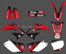 0174 New Style RED TEAM GRAPHICS&BACKGROUNDS DECALS STICKERS Kits for Honda CRF450R CRF450 2002 2003 2004
