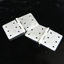 5pcs/pack J107 White Nylon Hinge with hole 15*18mm for DIY Model Airplane Make and Wooden Box Make Free Shipping