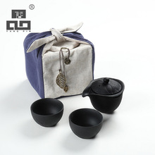 TANGPIN 2017 new arrival black crockery teapot ceramic tea cup portable travel tea set(China)