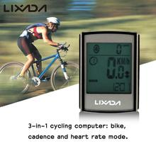 Lixada Multifunctional Cycling Computer  3-in-1 Wireless LCD Bicycle  Computer with Cadence Heart Rate Monitor Chest Strap
