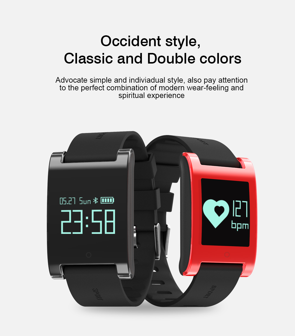 LEMDIOE DM68 waterproof smart band wristband fitness tracker Blood Pressure heart rate monitor Calls Messages watch for phone 2