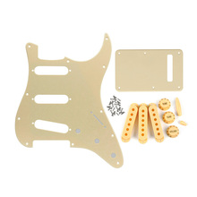Guitar Pickguard SSS Back Plate 48/50/52mm Pickup Covers with Knobs/Tips for Strat Guitar