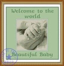 Рукоделие, DIY вышивки крестом, Наборы для ухода за кожей для Вышивка комплекты, 14ct, Размеры ручной свидетельство о рождении(China)