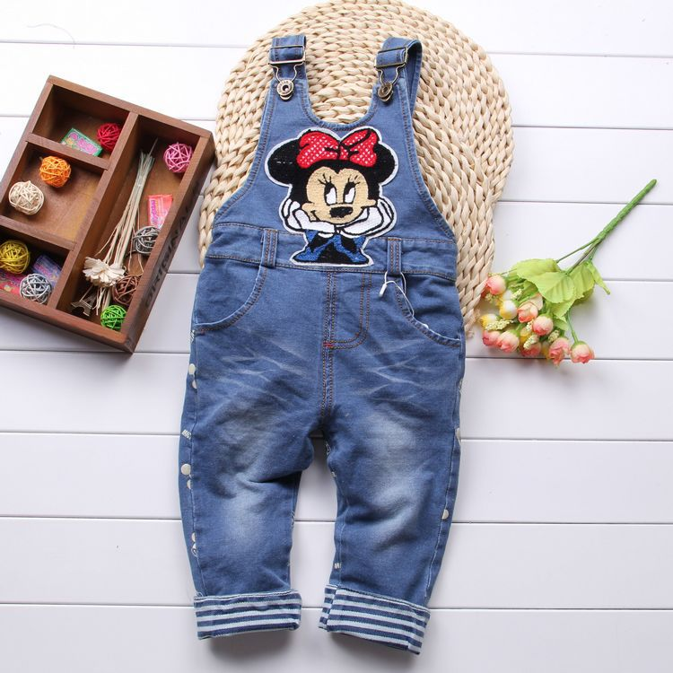 hot! Free shipping 2017 Spring Autumn sweet baby girls denim overalls, baby overalls girls  Rompers,kids<br><br>Aliexpress