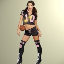 Sexy Cheerleader World Cup Football Fancy Dress Sports Girl Costume Two Pcs