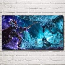 Мир WOW Lich King Сильвана Ветрокрылая Дракон игра Книги по искусству Шелковый плакат Декор печать 11X20 16x29 20x36 30x54 дюйма Бесплатная доставка(China)