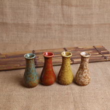 The ceramic kiln, four colors small vase, hydroponic flowerpot, flower pot, mini vases, ornaments, Home Furnishing, wholesale ~
