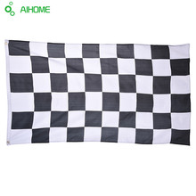 New 90cm*150cm Racing Checkered flag Black White NASCAR Flag Checkered Durable Motorsport Racing Decoration Banner(China)