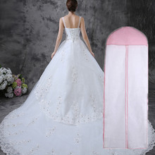 "72"" Breathable Wedding Prom Dress Gown Garment Clothes Cover Dustproof Bag Zip"