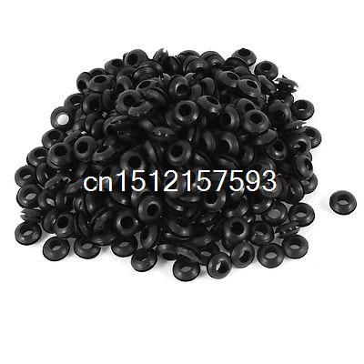 300Pcs 5mm x 10mm Black Rubber Cable Wiring Grommets Gasket Ring<br><br>Aliexpress