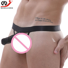 Buy Penis Pouch Sexy Gay Underwear Men Transparent Jockstrap String Homme Slip g string men gay men jockstrap underwear mens erotic
