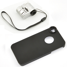 LED 63X Microscope Loupe Magnifier Phone Lens with Case for iPhone 4S 5S Samsung S3 S4 S5 Note 1 2 3 CL-66(China)