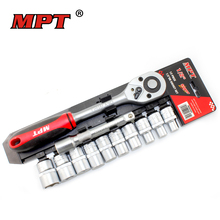 "Mpt 12PCS 1/2"" Socket Tool Set Ratchet Key Wrench Torque Ratchet Spanner Head for Bicycle Motorcycle Car Repairing Key Tools Set(China)"