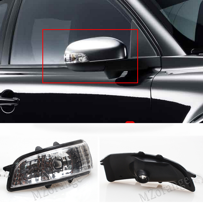 2pcs For Ford Focus 2008-2015 Wing Mirror Indicator Turn Signal Light Len Cover