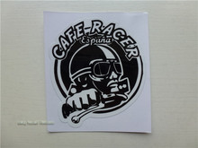 new!  cafe racer stickers retro motocross sticker windshield decals motorcycle helmet stickers for dirt bikes ATV