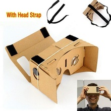 DIY for Google Cardboard Virtual Reality Glasses VR Mobile Phone 3D Viewing Glasses Or With Head Mount Strap Belt(China)