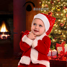 Allenjoy photo backgrounds christmas photo backdrop toys gifts The Christmas tree bear fire photography