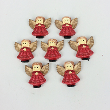 Kawaii Flatback DIY Angel For Christmas Resin Cabochons Flat Back Scrapbooking Embellishment Accessories Crafts:25MM