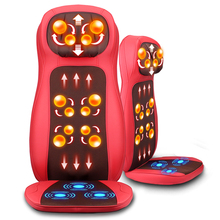 Free shipping RU Car body multi-function large motor massager car home dual cushion heating neck waist back massage cushion