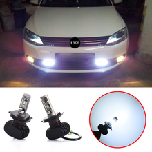 2pcs 4000lm  H4/HB2/9003 6500K  Car Bulbs Led Headlight Kits Dipped Beam & High Beam  Fog Lamps