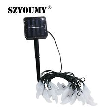 SZYOUMY Solar Outdoor String Lights 20 Led Ghost Solar Lamp Waterproof Light for Garden Patio Yard Home LED Christmas Lights(China)