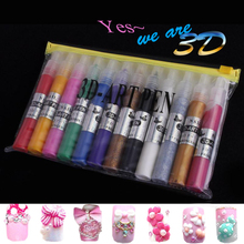 Buy PerfectSummer 12 Colors Set Nail Art DIY 3D Art Pen nail Polish Kits Drawing Pen Nail Painting Pens Tools Manicures for $6.61 in AliExpress store