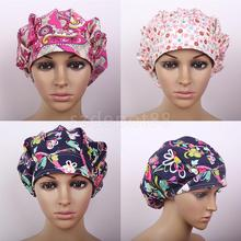 Printed Cotton Medical Cap Surgical Hat Bouffant Scrub Cap One Size(China)
