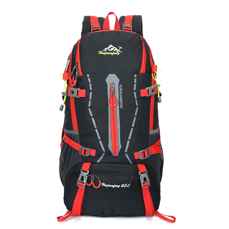 45L Backpack Rucksack Leisure Travel Bag Man Backpack Polyester Bags Waterproof Women Travel School Shoulder Computer Bags<br>