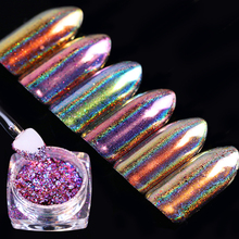 0.2g Chameleon Holo Flakes Powder Laser Nail Sequins Holographic Glitter Paillette DIY Nail Art Glitter Dust