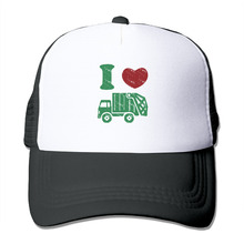 DUTRODU Unisex Baseball-caps Meshback I Heart Love Trash Garbage Trucks Hat Caps hip hop hat vary colors relaxbale(China)