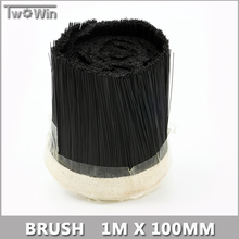 1M x 100mm Brush Vacuum Cleaner Engraving Machine Dust Cover For CNC Router For Spindle Motor.