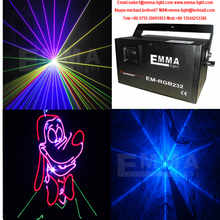 new arrival 1w RGB laser animation scanner projector DMX Stage DJ lighting Dance Show bar disco Party Light Show system
