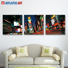 AFFLATUS Wall Painting New York Times Square Landscape Canvas Painting Canvas Poster Prints Wall Pictures Living Room Home Decor