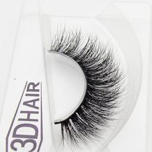 1 pair 3d mink lashes wholesale Lilly 100% real mink fur Handmade crossing lashes individual strip thick lash 06