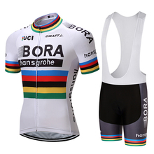 Bora Cycling 2017 Team Jersey Bicycle Bib Shorts Set Men Breathable Ropa Ciclismo MTB Bike Summer Quick Dry Riding Wear AC0213