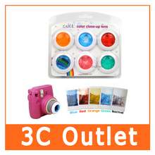 Fujifilm Instax Mini 8 7S 8+ Kitty Instant Camera Colorful Filters Round Heart Shape Camera Close Up Lens 6 PCS/Set