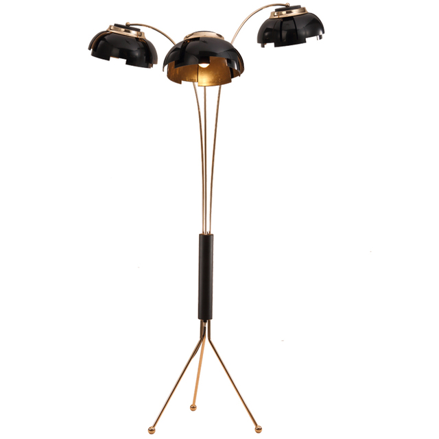 Creative Simple Floor Lamp Post Modern 3 Arm Standing Black Gold Living Room Bedroom New