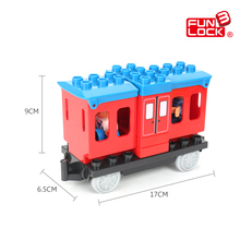 Funlock Duplo Train Construction Blocks Railway Station Carriage Coach Kids Toys