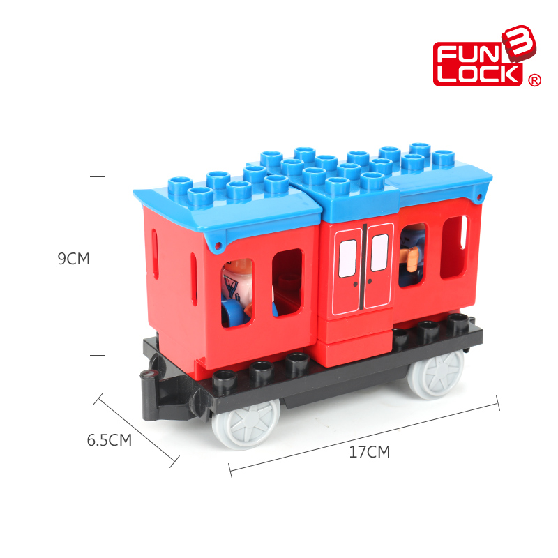 Funlock Duplo Train Construction Blocks Railway Station Carriage Coach Kids Toys(China (Mainland))
