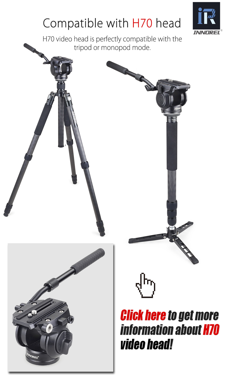 Rollei Rock Solid 3-Way-Head M Compatible with Arca Swiss Max Black Load Capacity 4 kg