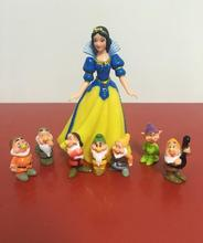 8pc/set Classic Animatio Seven Dwarfs Figure Doll Toy Home Office Car ornament Cartoon Animal statue resin craft TNJ050