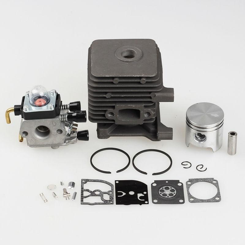 Cylinder Piston Kits with Carburetor Carb Fit STIHL FS55 FS45 BR45 KM55 HL45 HS45 KM55 HL45 HS45 HS55 TRIMMER 34mm<br>
