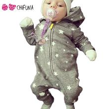 New 2016 Baby Romper Cartoon Hooded Zipper Baby Romper Kids Clothes Newborn Jumpsuit Infant Climbing Clothes Cotton Girl Romper(China)
