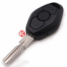 Replacement Shell Remote Key Case Fob 3 Button for 3 5 7 SERIES Z3 Z4 X3 X5 M5 325i E38 E39 E46 BackSide with the Word 433.92MHz