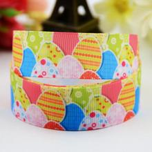 7/8'' (22mm) Easter Eggs Cartoon Character printed Grosgrain Ribbon party decoration satin ribbons OEM 10 Yards X-00736