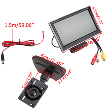 "5"" Car Monitor TFT LCD Screen HD Digital Car Rearview VCD/DVD/GPS Camera Car Video Players Vehicle Car Monitors"